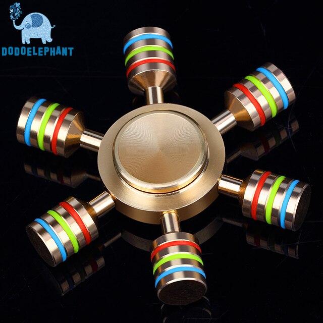 Dodoelephant JX-6 Радуга Непоседа счетчик палец блесны ручной Spinner латунь spiner поставляется с металлической коробке анти снять стресс игрушки