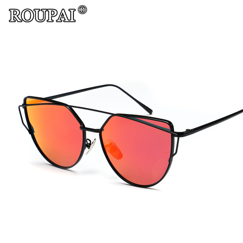 ROUPAI Brand 2017 Quality Metal Polarized Sun Glasses For Women Vintage Female Cat Eye Sunglasses Hipster Shadow Glasses oculos