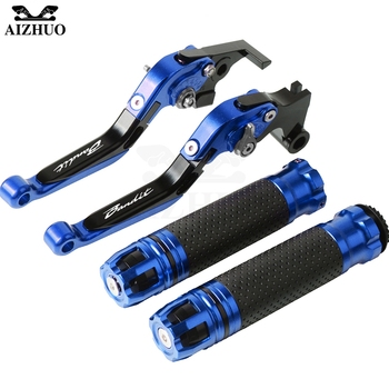 Motorcycle Brake Clutch Lever Extendable+Hand Grips Handlebar For SUZUKI GSF650 BANDIT/GSF650S BANDIT/GSF650N BANDIT 2007-2015 фото
