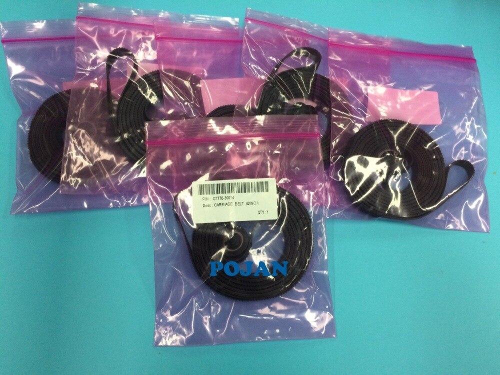 5 pces x C7770-60014 42 42 b0 carriage belt designjet 500 500 cv 510 510 ps 800 800 ps da cabeça de impressão do transporte blets tinta plotter impressora