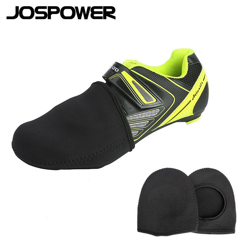 JOSPOWER Mountain Bike Road Bike Winter Warm Shoes Cover Windproof Half Palm Toe Bicycle Shoes Cover Lock Shoes Overshoes