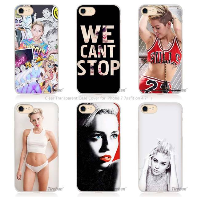 Miley Cyrus Hard Transparent Phone Case Cover for Apple iPhone 4 4s 5 5s SE 5C 6 6s 7 Plus