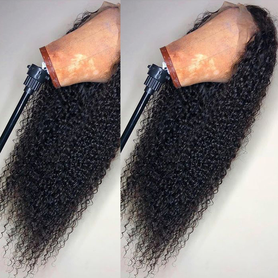 Curly Full Lace Human Hair Wigs With Baby Hair Brazilian Remy Human Hair Wigs With Full