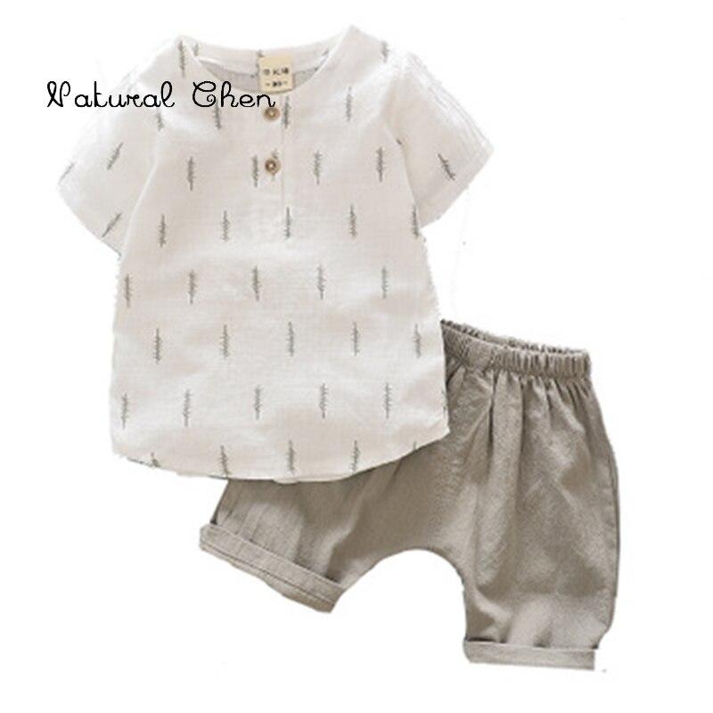 2019 Neue Sommer Shirts Anzug Koreanische Version Baby Kurzarm Zwei-stück Anzug