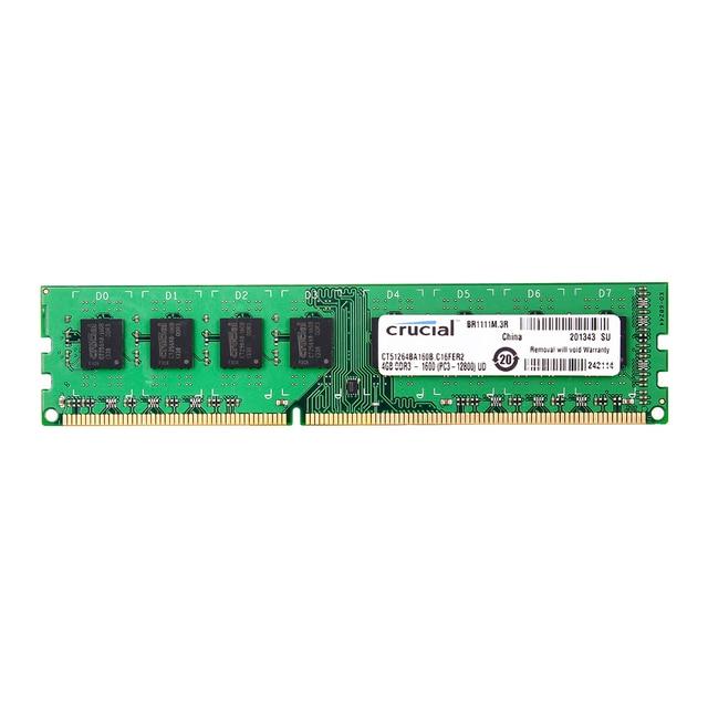Cruciale DDR3 PC3 12800S 4GB DDR3 1600MHz 2X4GB (8 GB) 240 pin DIMM Desktop Geheugen Module