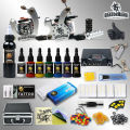 Professional Tattoo Kit 7 color Ink Power Supply 2 Machine Guns