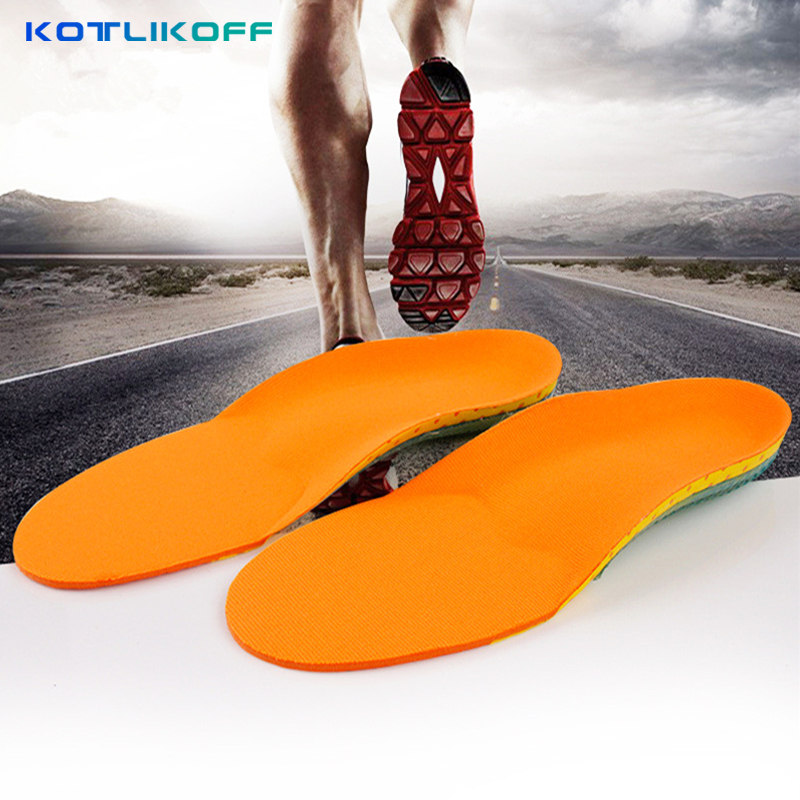 KOTLIKOFF Free Size Unisex Orthotic Arch Support Shoe Pad Sport Running Gel Insoles Insert Cushion Non Slip Health Foot Care 2016 1 pair large size orthotic arch support massaging silicone anti slip gel soft sport shoe insole pad for man women