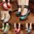 Bordado de la vendimia de Las Mujeres Bombas 5 CM de Tacón Zapatos de Mujer Nacional Retro Viejo de Pekín Mary Jane Bombas de Lona Paño Suave Estilos de la mezcla