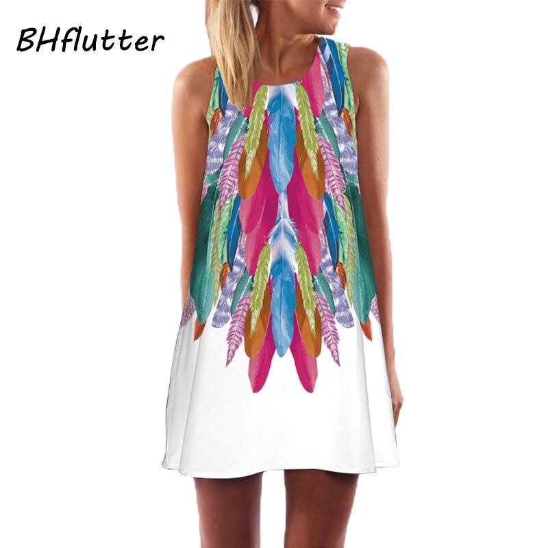 BHflutter Vestidos 2018 New Style Summer Dress Sleeveless Hearts Print Casual Women Dress Above Knee Women Short Beach Dresses 3