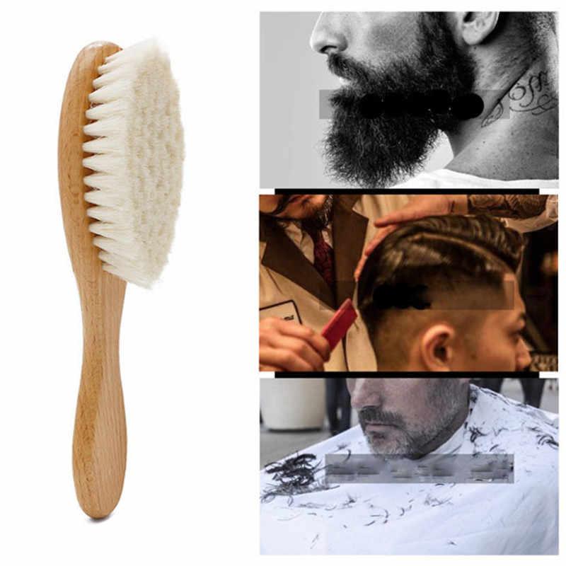 1 Pc Nieuwe Soft Baard Gezicht Wassen Borstel Houten Hand Haar Knippen Hairdressing Styling Salon Haar Kraag Schoonmaakdoekje Salon tool