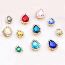 20pcs New arrival Drop shape sew on rhinestones Crystal buckle high quality glass Diy jewelry/clothing accessories