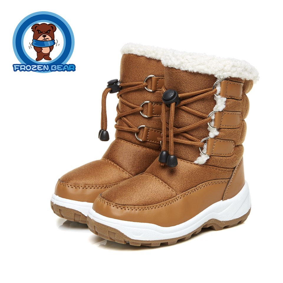 Little Girls Boys Infant Boot Snow Fur Soft Warm Boots Winter Solid Round Infantil Mid-calf Kids Booties Waterproof KT903-34