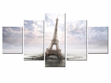 NEW 5 piece Scenic Tower Series Canvas Painting Wall Art Home Decor Poster Print unframe or framed/XC-city-28