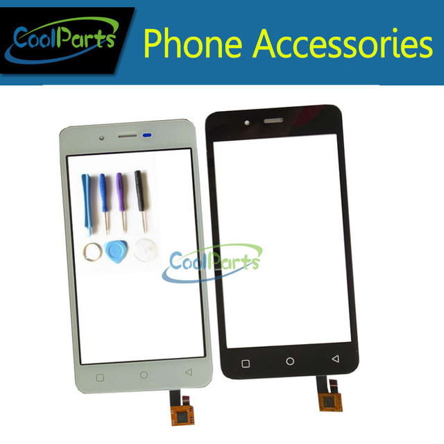 1PC/Lot High Quality For Micromax Canvas Spark Q380 4.7inch Touch Screen Digitizer Panel Glass With Tools Black And White Color