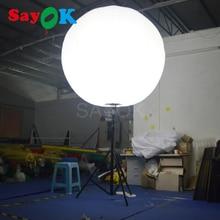 Лидер продаж надувные стоять шар штатив с галогенной лампы или RGB света для Событий Рекламы