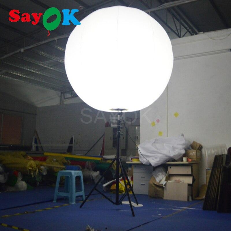 Vente chaude Gonflable Stand Trépied Ballon avec Halogène Lumière ou RGB Lumière pour Événement Publicité