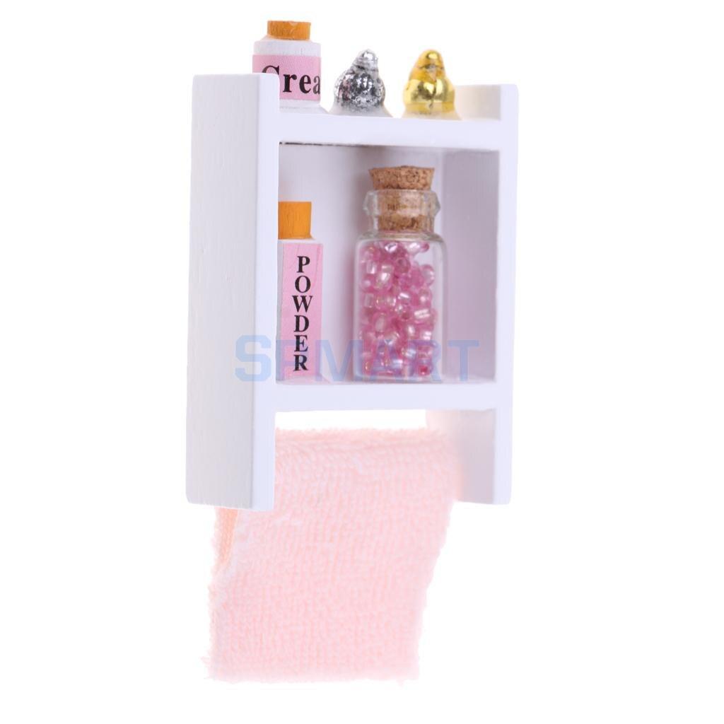 1/12 Scale Dollhouse Miniature Bathroom Furniture Wall Shelf