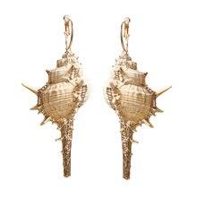 Summer Korean Conch Drop Earrings For Women 2019 Brincos Geometric Earring Imitation Pearl Jewelry