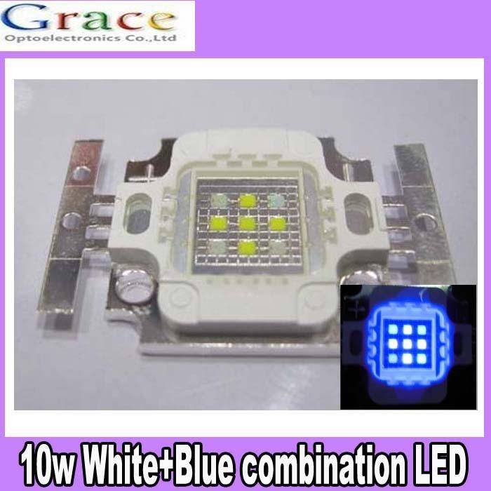 Square Actinic Hybrid 10W Cold White 10000K+Royal Blue High Power LED Light Bulb