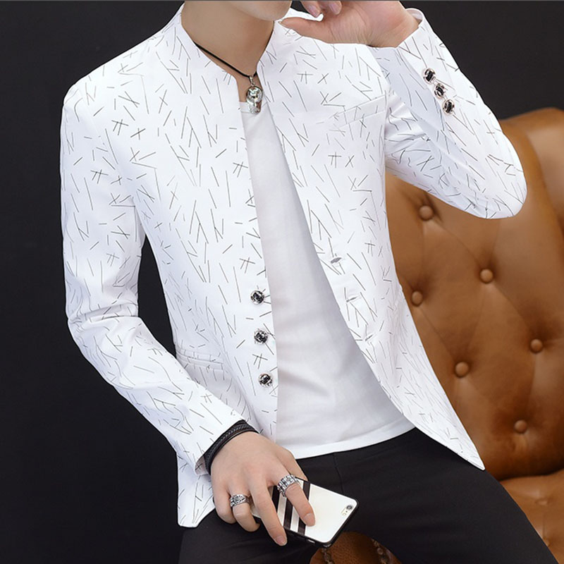 Casual Blazer Masculino Men Blazer Slim Fit Casaco Masculino Purple Mens Blazers Spring Summer Men White Blazer ...