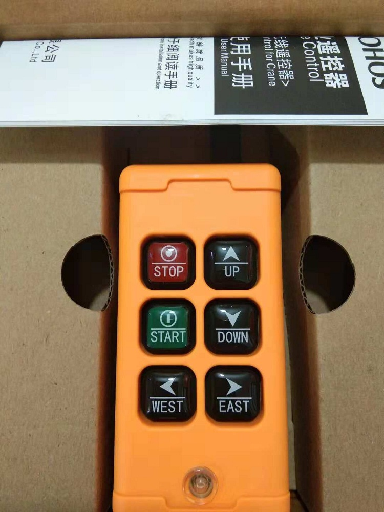 Здесь можно купить  OBOHOS 12V 24V 110V 220V 380V HS-6 6 Channels 1 Speed Control Hoist industrial wireless Crane Radio Remote Control System  Электротехническое оборудование и материалы
