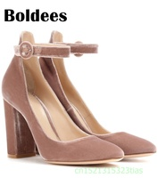Boldee 2018 Spring New Women Shoes Basic Style Retro Fashion High Heels Pointed Toe Office Career