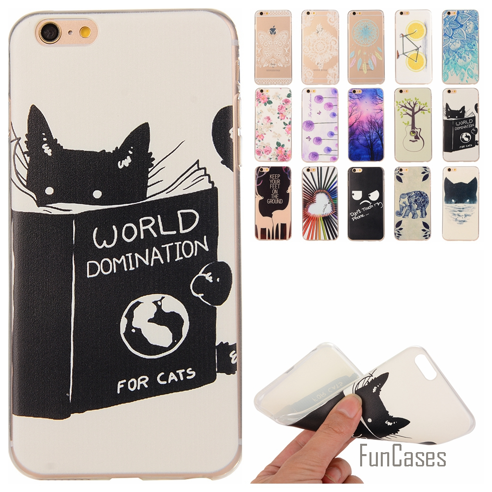 buy soft silicone case for coque apple iphone 6 6s 6g phone case cover for