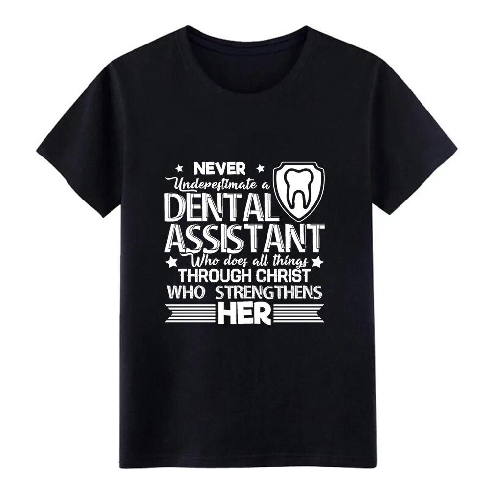 Męskie nigdy nie lekceważ asystenta dentystycznego t shirt