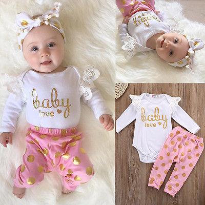 2017 Småbarn Nyfödda barnflickor Romperbyxor Jumpsuit vit - Babykläder - Foto 4