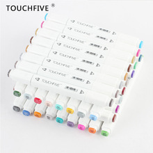 TouchFIVE 168 Colors Art Marker Set Alcohol Based Brush Pen Liner Dual Handle Sketch Markers Twin Drawing Manga Art Supplies