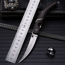 Navajas Rushed New Wood 2016 High Quality Outdoor Folding Knife Self-defense Wilderness Survival With Hardness Wild Fruit Fangs navajas new sale 2016 outdoor folding knife self defense wilderness survival with hardness wild fruit plum blossom