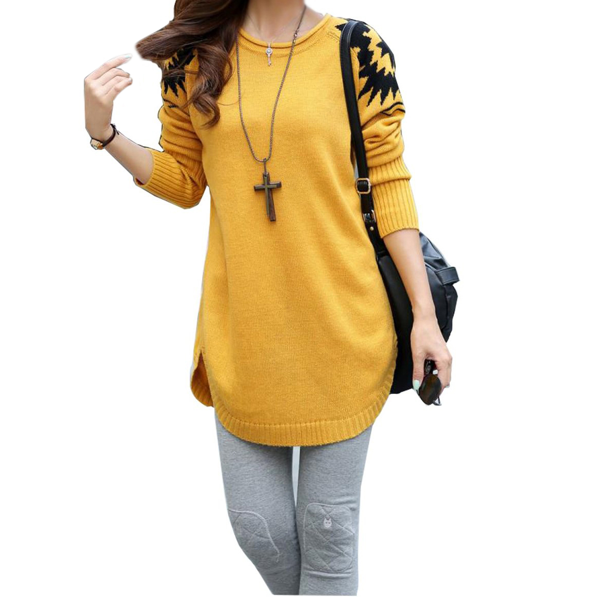 Online Shop MALL New Arrival Women Long sleeve O-Neck Sweater ...