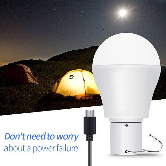 LED Light Solar Outdoor Camping Lamp Garden LED Solar Power Light Portable LED Bulb 15W Emergency Lamp USB Rechargeable Bulb 5V