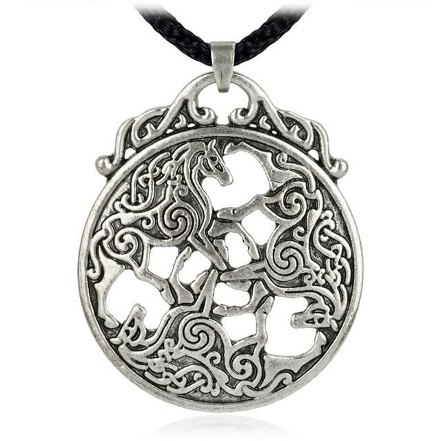 Aliexpress buy ezei celtic knot horse pendant equine jewelry ezei celtic knot horse pendant equine jewelry goddess epona necklace aloadofball Images
