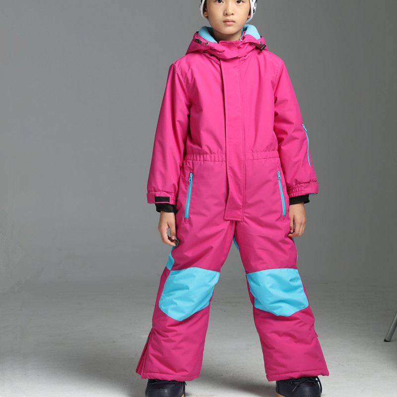 a713e34a8 Winter Ski Jumpsuit Kids Boys Ski Suit One piece Snowsuit Ski Suits Girls  Snowboarding Suits Waterproof Winter 4T To16T-in Skiing Jackets from Sports  ...