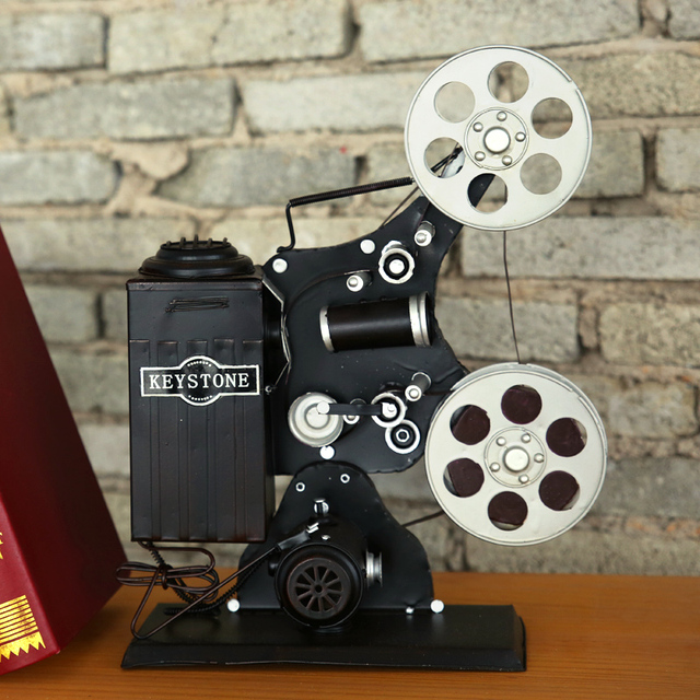 Tv Meubel Nostalgisch.Us 89 99 Amerikaanse Creatieve Vintage Projector Model Nostalgische Ornamenten Cafe Stoffering Tv Kast Wijnkast Prullaria In Amerikaanse Creatieve