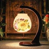 Vintage style porzellan keramik schreibtisch tischlampen für nacht chinesischen mehrfarben licht Porzellan schlafzimmer wohnzimmer lampe