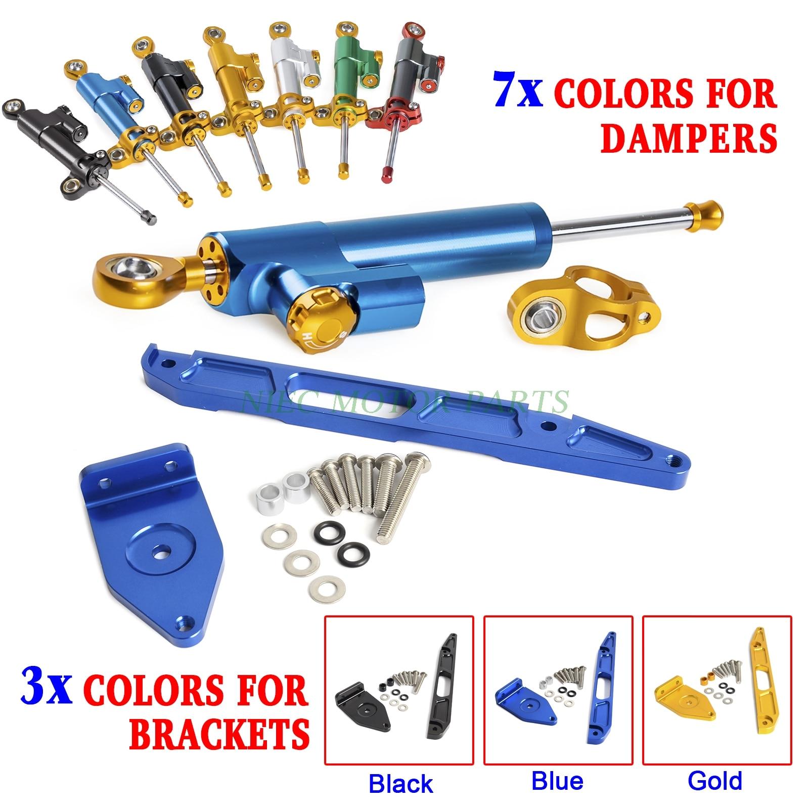 Motorcycle CNC Steering Damper Stabilizer & Bracket For Yamaha  XJR1300 2012 2013 2014 2015 cnc steering damper mounting kit bracket for yamaha xjr1300 2002 2015 2004 2006 2008 2010 2012 2014 xjr 1300 new