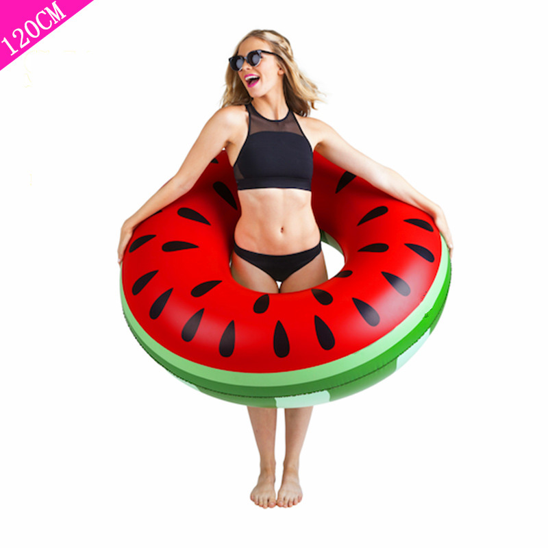 Beach or swimming pool swimming ring PVC inflatable watermelon adult childrens fruit swimming circle