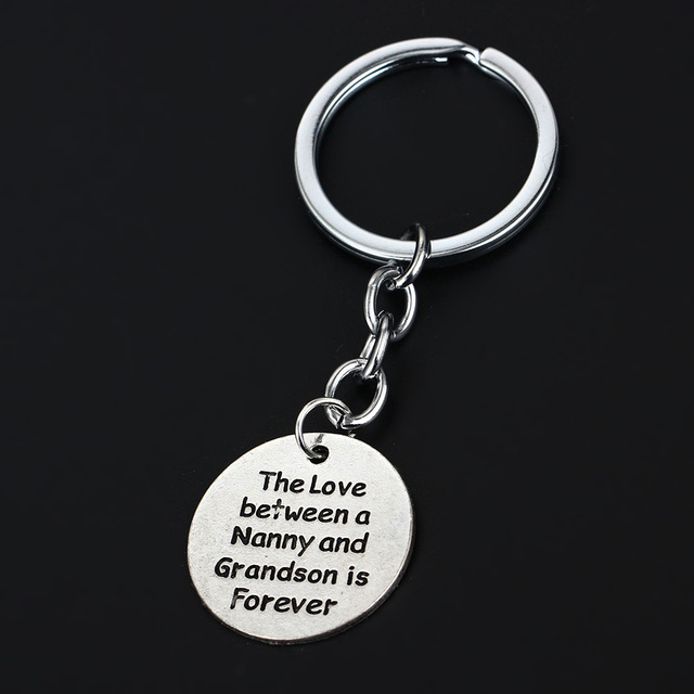 love between nanny and grandma forever keyring best gifts for family