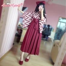 d68f3f1bcc71 High Waist Pleated Skirt Japanese Anime Cosplay JK Style Solid Color Long  Skirts Women Faldas Saia