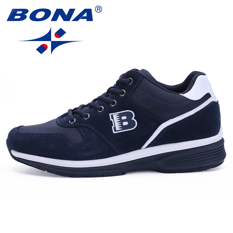 BONA New Hot Style Men Walking Shoes Outdoor Jogging Sneakers Comfortable Sport Shoes Lace Up Athletic Shoes Fast Free Shipping