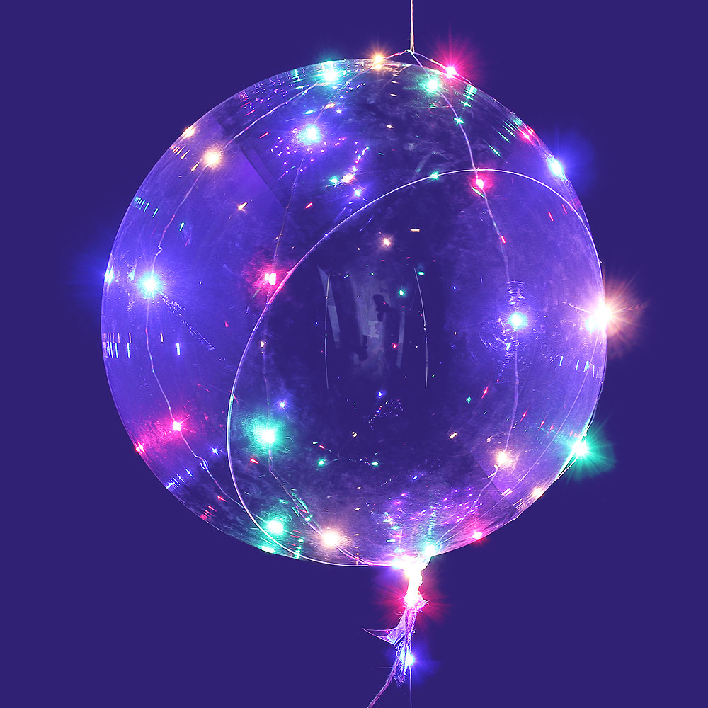 Event & Party 1/5pc Led Light Air Balloon String Lights Round Bubble Helium Balloons Kids Toy Wedding Party Decoration And Digestion Helping Festive & Party Supplies