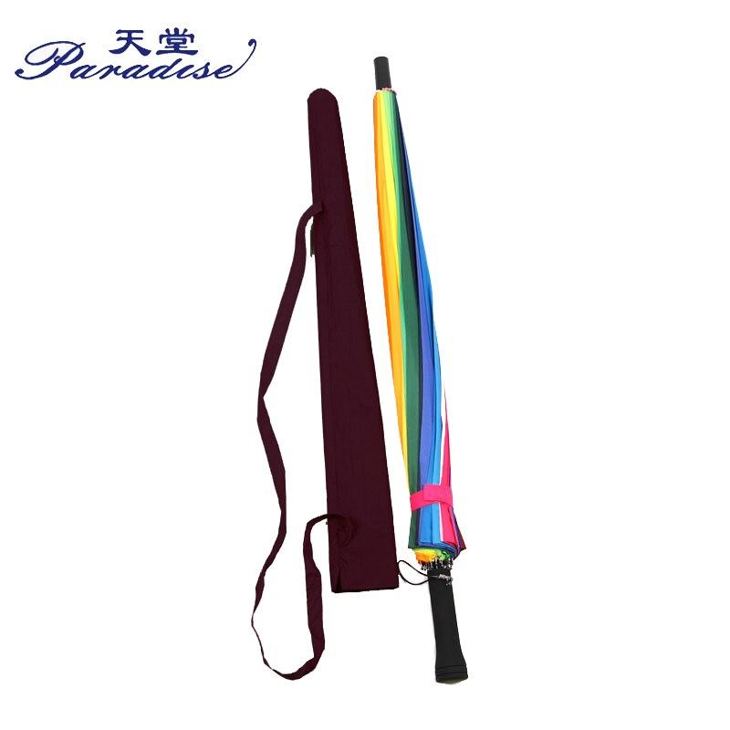 Image 5 - Women Rain Umbrella Rainbow Brand 24K Windproof Long Handle Umbrellas Waterproof Fashion Colorful Paraguas Strong Frame-in Umbrellas from Home & Garden