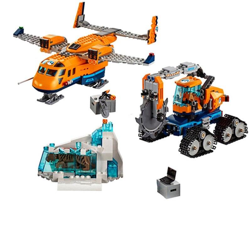 New Kid Toys City Series the Arctic Supply Plane Set Model Building Blocks Bricks Toys Boy Gifts