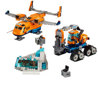 New Kid Toys City Series the Arctic Supply Plane Set Model Building Blocks Bricks Toys Boy Gifts