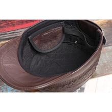 Genuine Leather Autumn & Winter Adjustable Cap