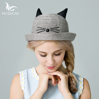 MOSNOW 2017 Stylish Summer Hats New Brand Beach Women Hats Cute Animal Ears Sun Visor Hat