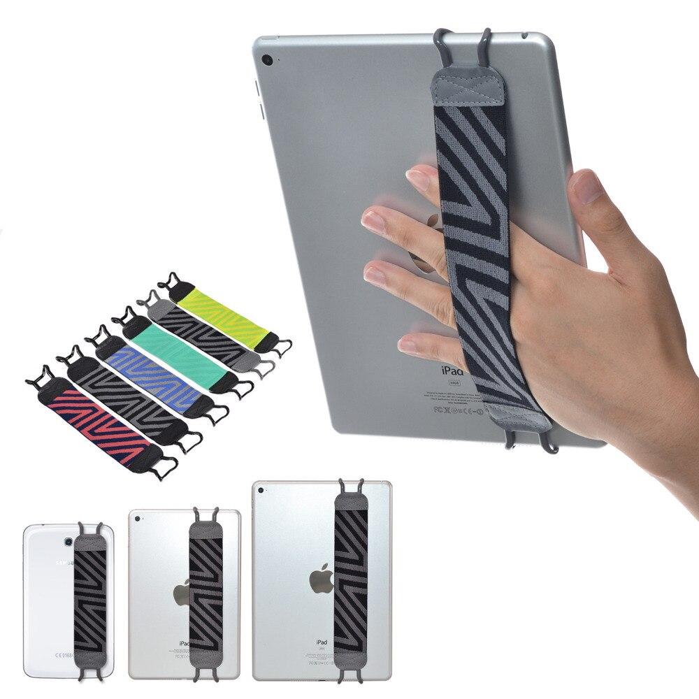 """imágenes para TFY Seguridad Correa de Mano Soporte para Apple iPad 2/3/4, iPad Aire,, iPad mini-ipad Pro 9.7 """"Samsung Galaxy Tab y Nota, Gris"""