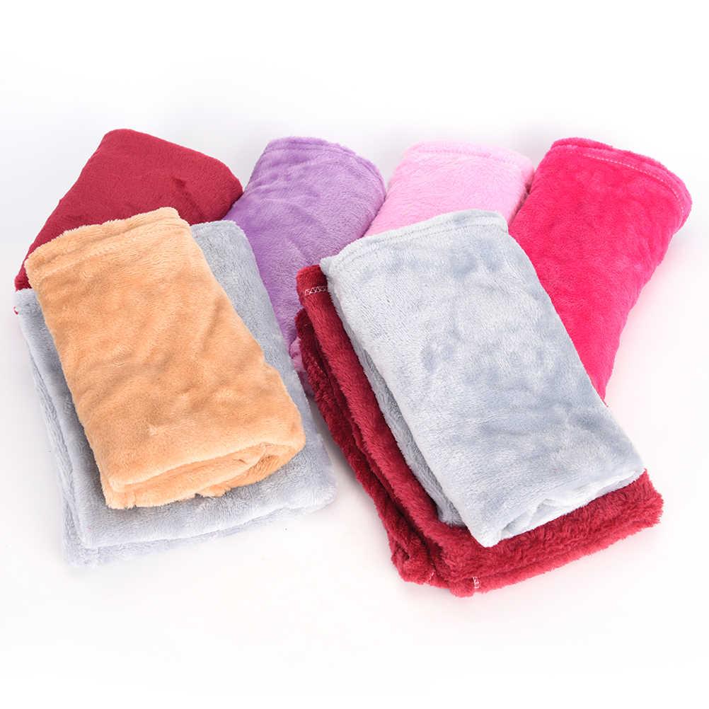 Têxtil de casa cobertor de lã cobertores de verão cor sólida macia e quente jogar no sofá/cama/lençóis colchas mantas de viagem 50 cm x 70 cm